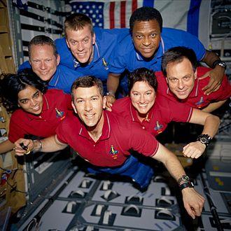 Columbia: The Tragic Loss - Image: STS 107 crew in orbit