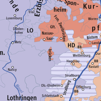 County of Saarwerden - The Calvinist County of Saarwerden surrounded by Catholic Lorraine.