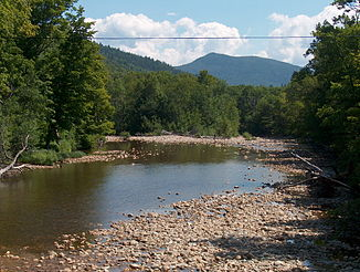 Der Saco River in Crawford Notch.