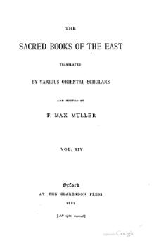 Sacred Books of the East - Volume 14.djvu