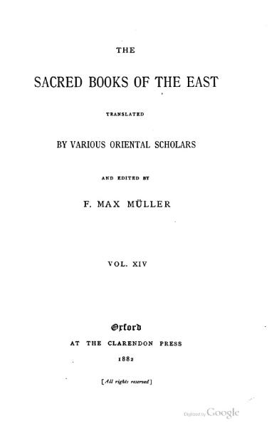 File:Sacred Books of the East - Volume 14.djvu
