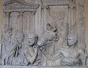 Préparatifs d'un sacrifice, Rome, IIe siècle
