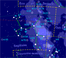 image illustrative de l'article Sagittaire (constellation)