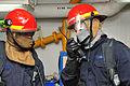 Sailors conduct damage control training aboard USS Blue Ridge. (11565944663).jpg