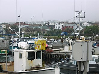 Saint Pierre and Miquelon - Fishing boats in Saint-Pierre harbour