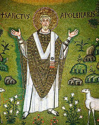 Apollinaris of Ravenna - Portrait Mosaic of Saint Apollinaris at the Basilica of Sant'Apollinare in Classe, Ravenna