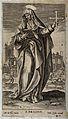 Saint Bridget of Sweden. Line engraving after M. de Vos. Wellcome V0031749.jpg