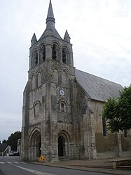 The church in Sainte-Solange
