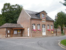 The town hall in Saisseval