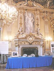 O Sal�o do Rel�gio onde se apresentou a Declara��o Schuman.