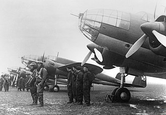 Invasion of Poland - Polish PZL.37 Łoś medium bombers with a four-man crew