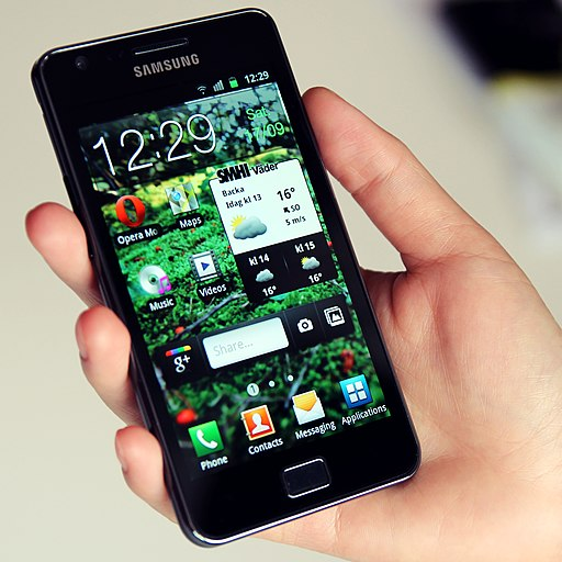 Samsung Galaxy S II in hand
