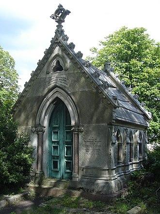 Samuel Wilson (Portsmouth MP) - Funerary monument, Kensal Green Cemetery, London