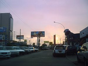 San Miguel District, Lima - A view of San Miguel towards west at sunset