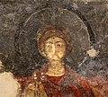 San lorenzo in insula, cripta di epifanio, affreschi di scuola benedettina, 824-842 ca., madonna in trono bendicente e sei angeli con scettro e globo 04.jpg