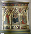 San martino a mensola, interno, tadeeo gaddi, madonna col bambino e santi, 1350 ca.JPG