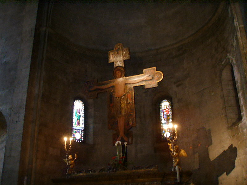 File:San michele in foro, interno, crocifisso.JPG