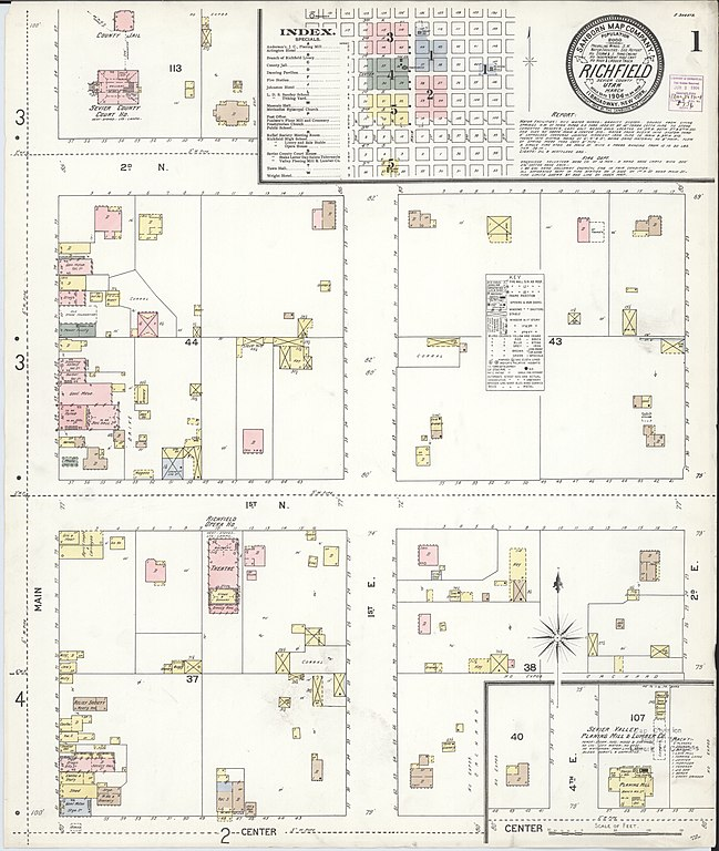 sevier county fire map File Sanborn Fire Insurance Map From Richfield Sevier County