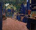 Santiago Rusiñol - Blue Courtyard. Arenys de Munt - Google Art Project.jpg