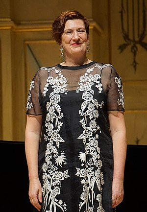 Sarah Connolly - Mezzo-soprano Sarah Connolly after a recital at Clayton State University's Spivey Hall in 2017.