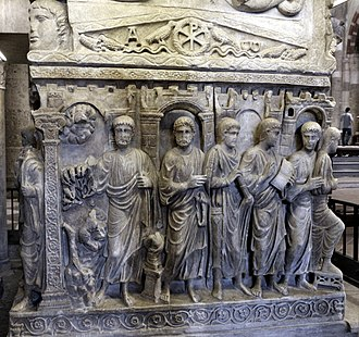 Sarcophagus of Stilicho - Image: Sarcofago detto di stilicone, IV secolo, 05