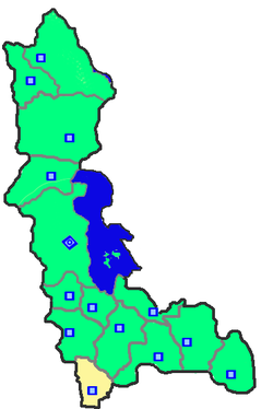 Location of Sardasht County in West Azerbaijan Province.