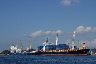 Metro Davao - The International Seaport of Davao, the busiest port in Mindanao.