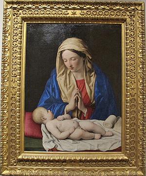 Madonna Adoring Child