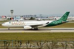 Saudia (Saudi National Day Livery), HZ-AQE, Airbus A330-343 (44574961504).jpg