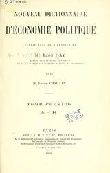 Say, Chailley-Bert - Nouveau dictionnaire d'économie politique.djvu