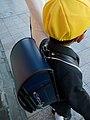 Schoolkid wearing yellow hat and randoseru in Japan; April 2011.jpg