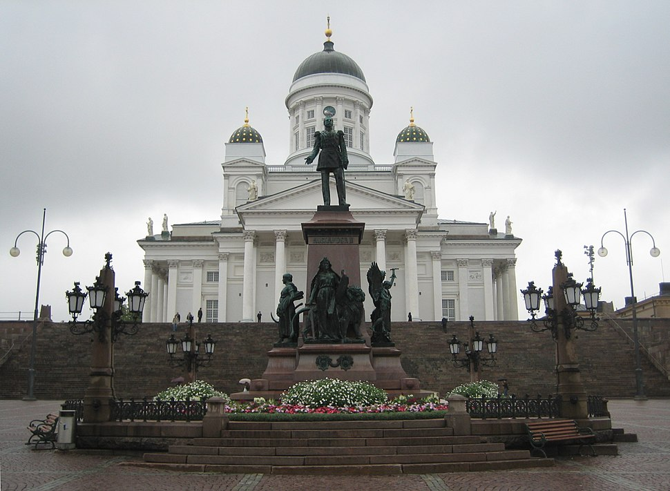 Sculpture of Alexander II of Russia in Helsinki