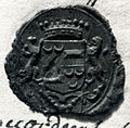 Seal of T W J van Wassenaar Warmond, provost of Saint Servatius, Maastricht (1791-97).jpg