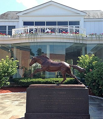 National Museum of Racing and Hall of Fame - Secretariat statue by John Skeaping at the National Museum of Racing and Hall of Fame in Saratoga