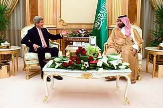 Mohammad bin Salman - Prince Mohammad with US Secretary of State John Kerry, 7 May 2015