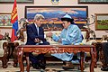 Secretary Kerry Participates in the Cultural Practice of a Snuff Exchange by Mongolian President Tsakhia Elbegdorj (27473286275).jpg