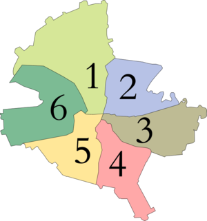 Sectors of Bucharest - The six sectors