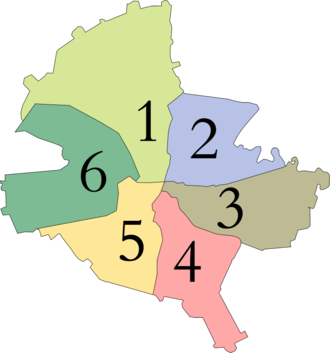Sectors of Bucharest - The six sectors