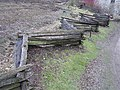 Self supporting fence, Ulster American Folkpark - geograph.org.uk - 284160.jpg