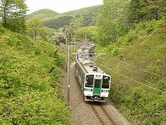 Senzan Line - Ayashi-bound Senzan Line west of Kuzuoka Station