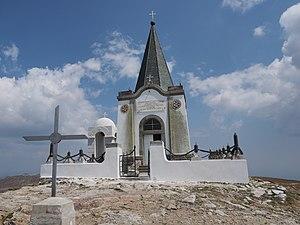Kajmakčalan - The Serbian-built Saint Elijah Orthodox chapel atop Kajmakčalan