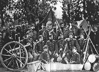 Serbian–Ottoman War (1876–1878) - Serbian military camp during the war in 1876.