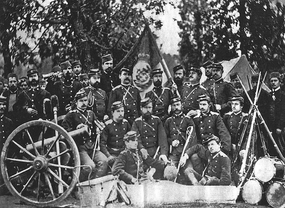 Serbian military camp