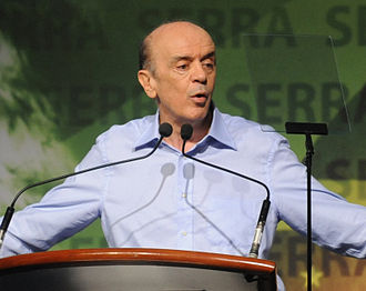 José Serra - Serra during the annual meeting of PSDB, in which he announced his pre-candidacy, 10 April 2010.