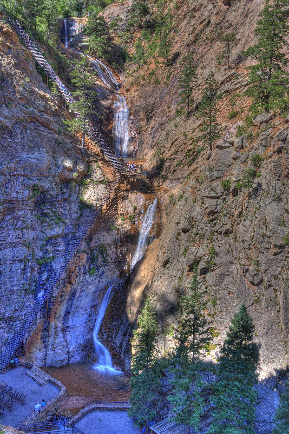 Seven Falls Wikipedia - Colorado waterfalls map