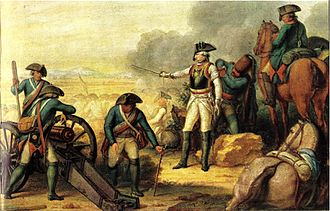France–Germany relations - The Prussian troops victorious at the battle of Rossbach. Johann Christoph Frisch, 1799.