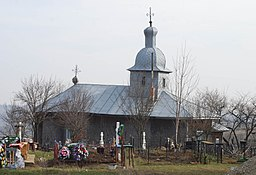 Sf. Voievozi wooden church in Rediu, Neamt county, RO.jpg
