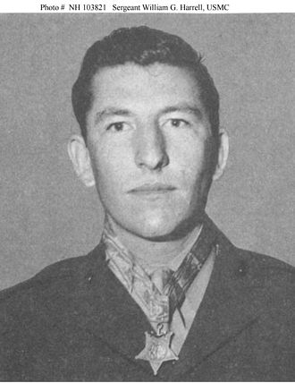 William G. Harrell - Portrait of Harrell with his Medal of Honor