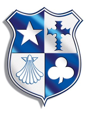 Hedingham School - Image: Shiny Crest blue 3cm