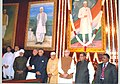 Shivraj V. Patil, the Leader of Opposition in Lok Sabha, Shri L.K. Advani and other dignitaries paid tributes at the portrait of former Prime Minister.jpg
